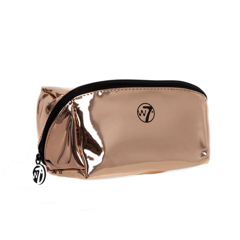 W7 Metallic Rose Gold Cosmetic Bag