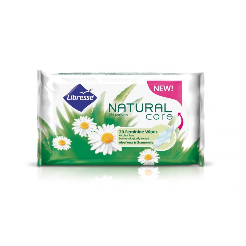 Libresse Natural Care Feminine Alcohol Free Wipes
