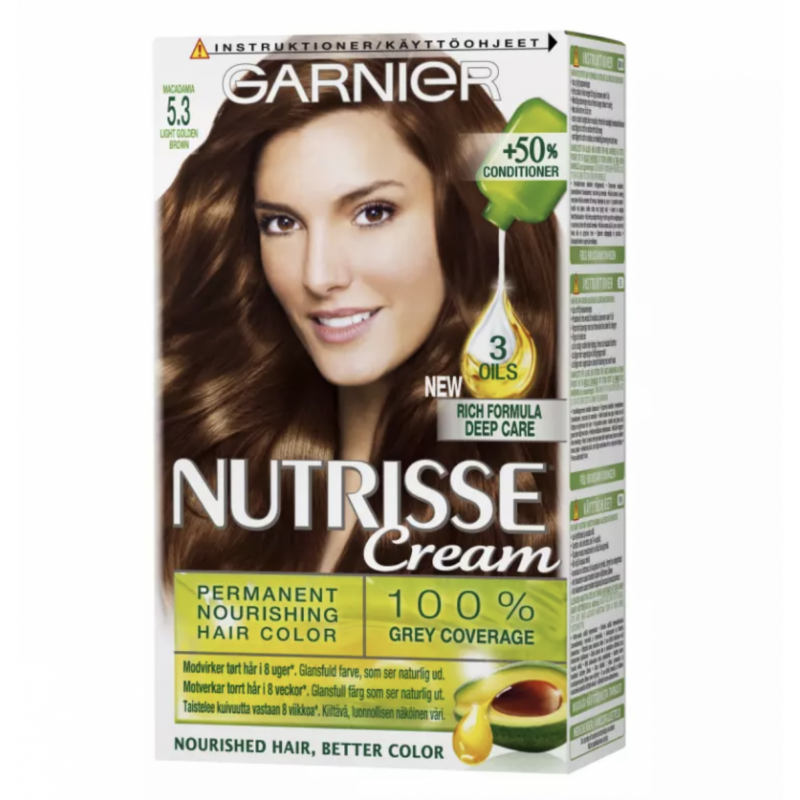 Garnier Nutrisse Creme 5.3 Macadamia Light Golden Brown