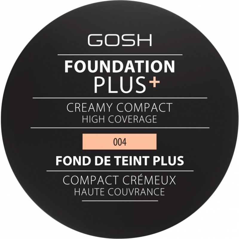 GOSH Foundation Plus Creamy Compact 004 Natural