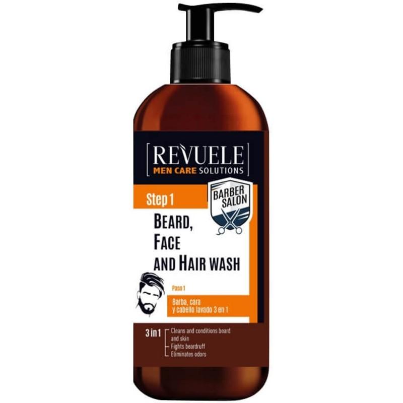 Revuele Men Step 1 3in1 Beard, Face & Hair Wash