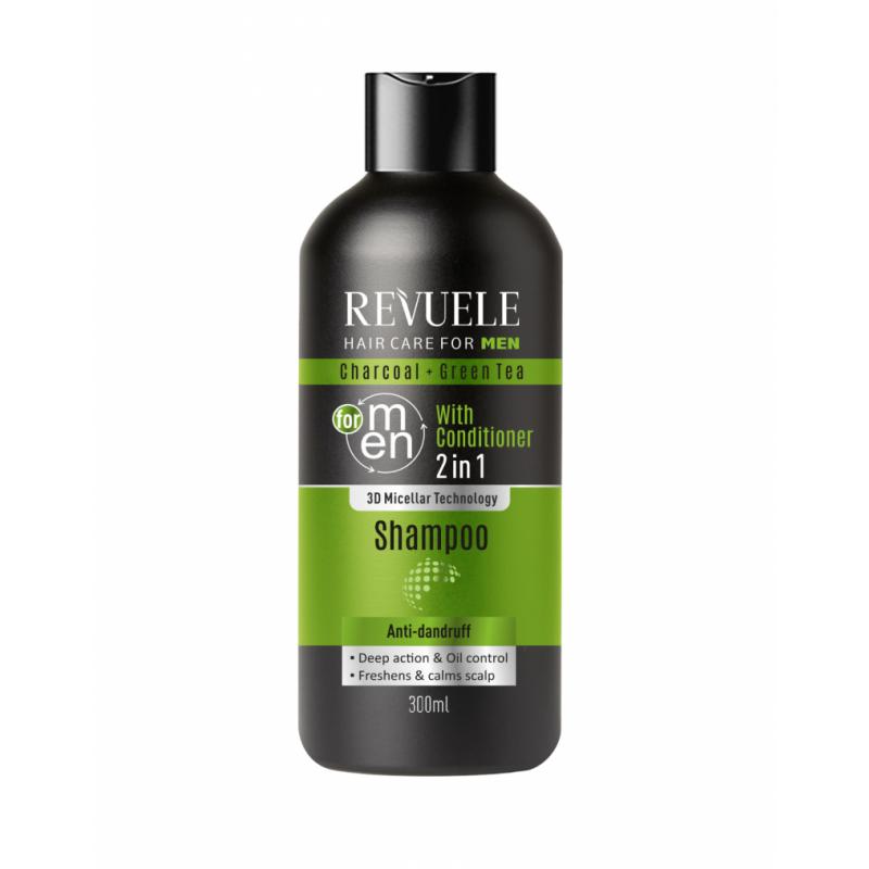 Revuele Men 2in1 Charcoal & Green Tea Shampoo