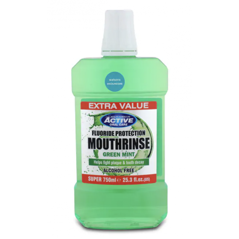 Active Oral Care Fluoride Protection Green Mint suuvesi