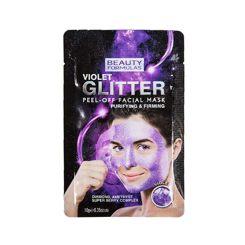 Beauty Formulas Violet Glitter Purifying Peel-Off Mask