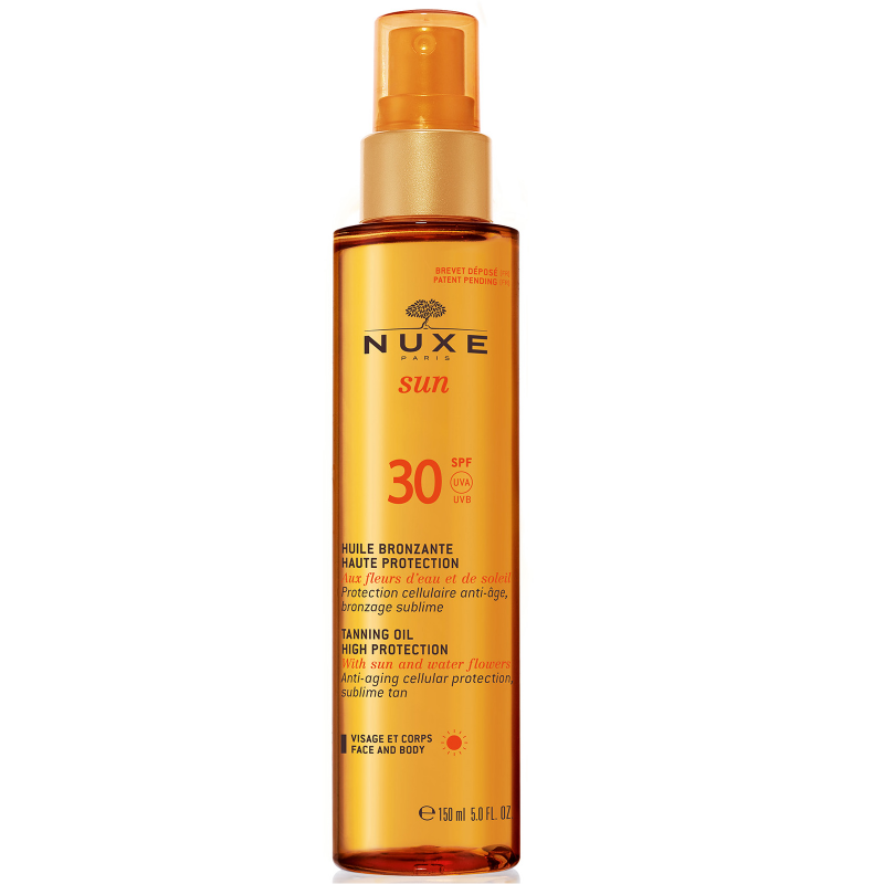 Nuxe Tanning Oil High Protection SPF30