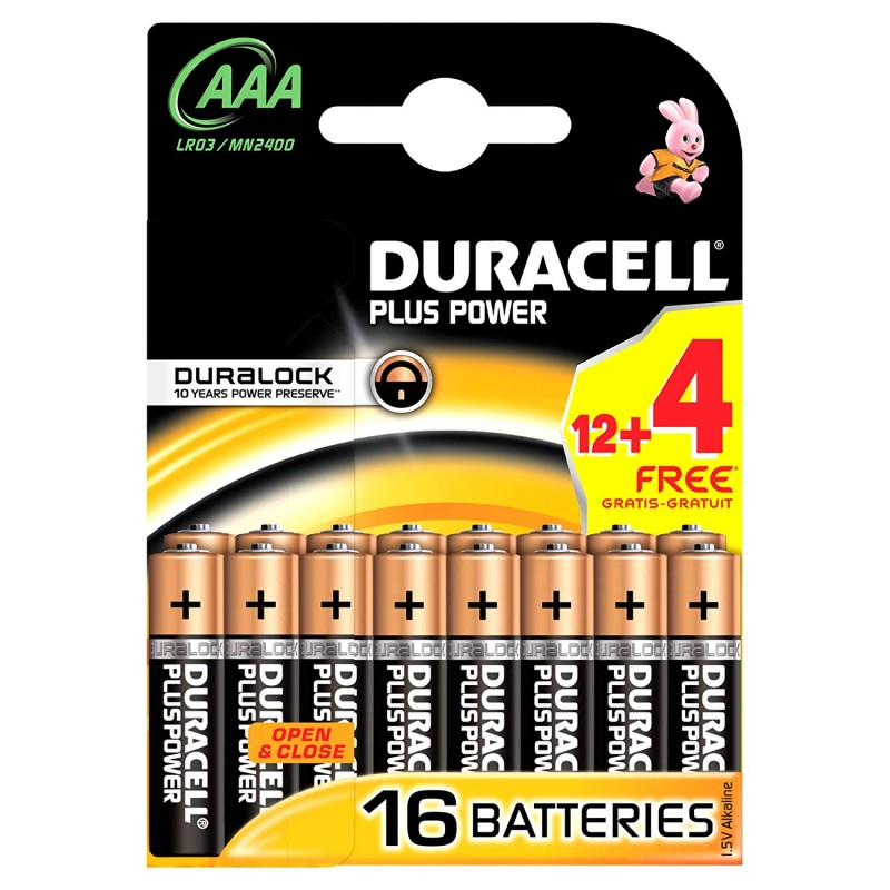 Duracell AAA Duralock Plus Power