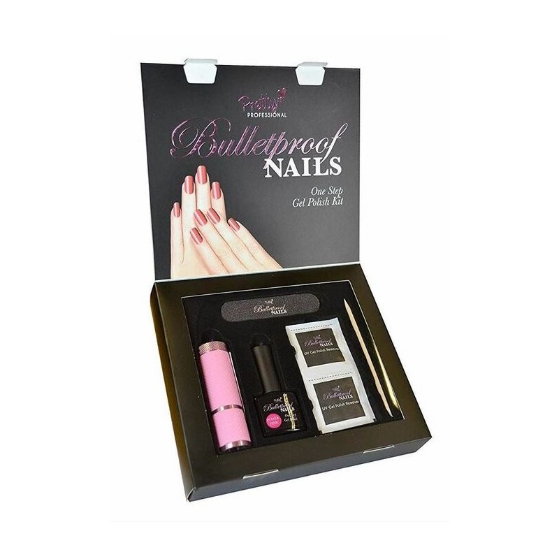 Pretty Professional Bulletproof Nails Gel Polish Kit Power Pink