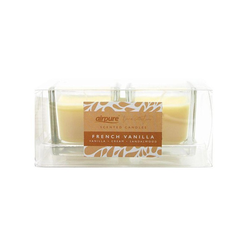Airpure French Vanilla Scented Candles Duo