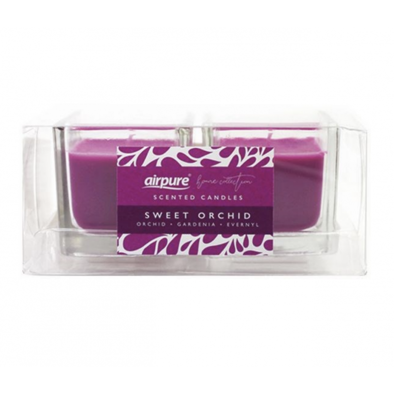 Airpure Sweet Orchid Scented Candles Duo