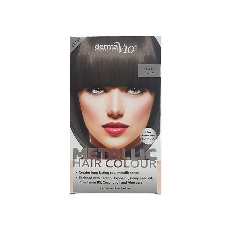 DermaV10 Metallic Hair Colour Slate Grey