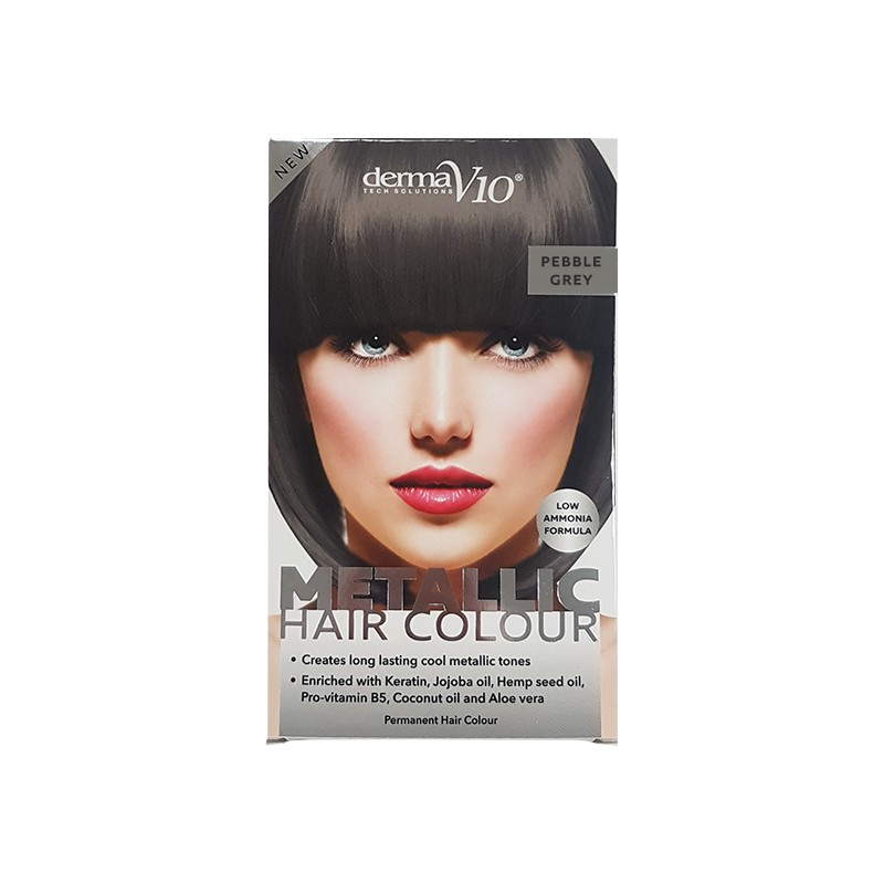 DermaV10 Metallic Hair Colour Pebble Grey