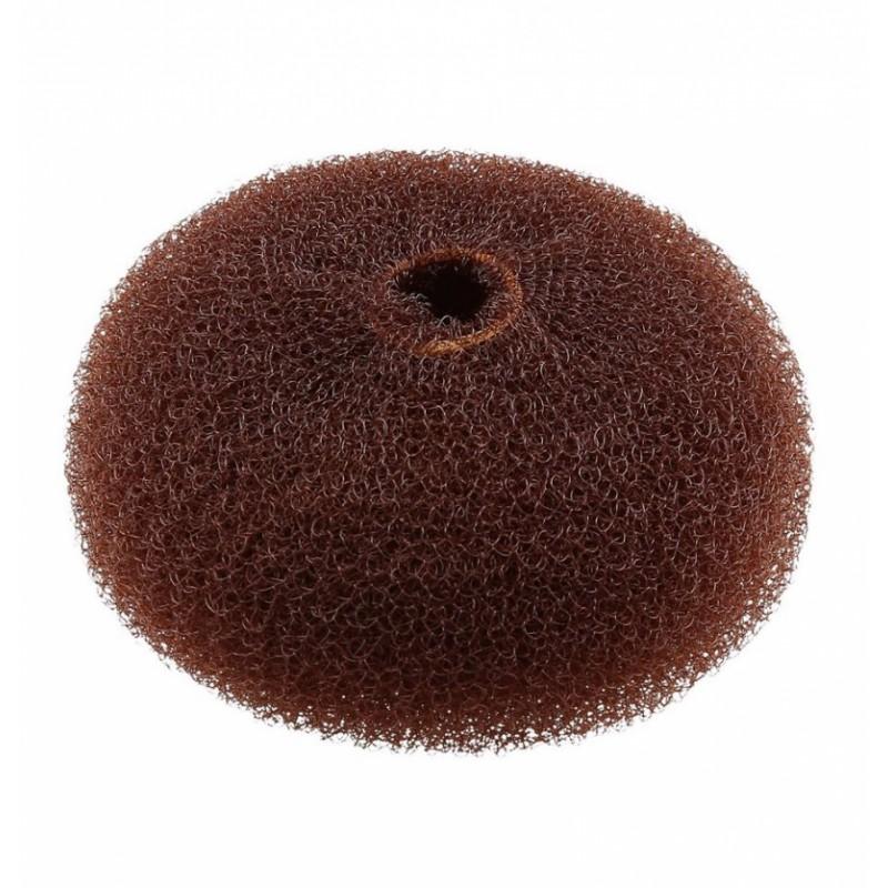 Lussoni Hair Bun Ring Brown 90 mm