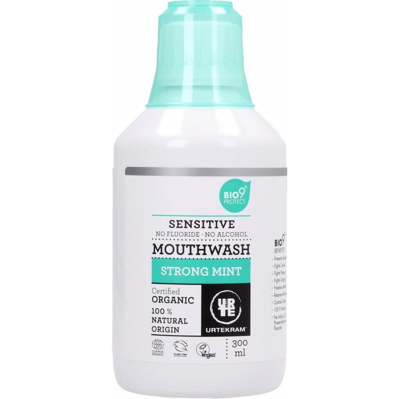 Urtekram Strong Mint Mouthwash Sensitive