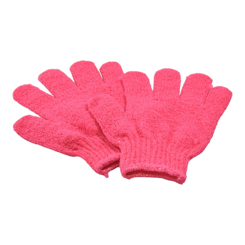 Basics Exfoliating Gloves Pink