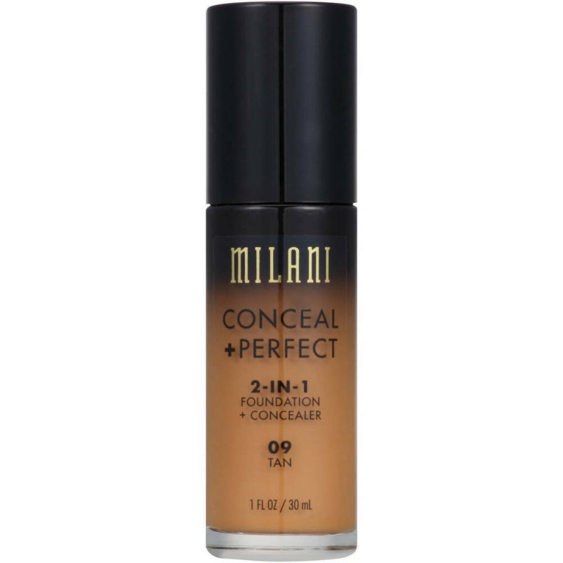 Milani Conceal + Perfect 2in1 Foundation + Concealer 09 Tan