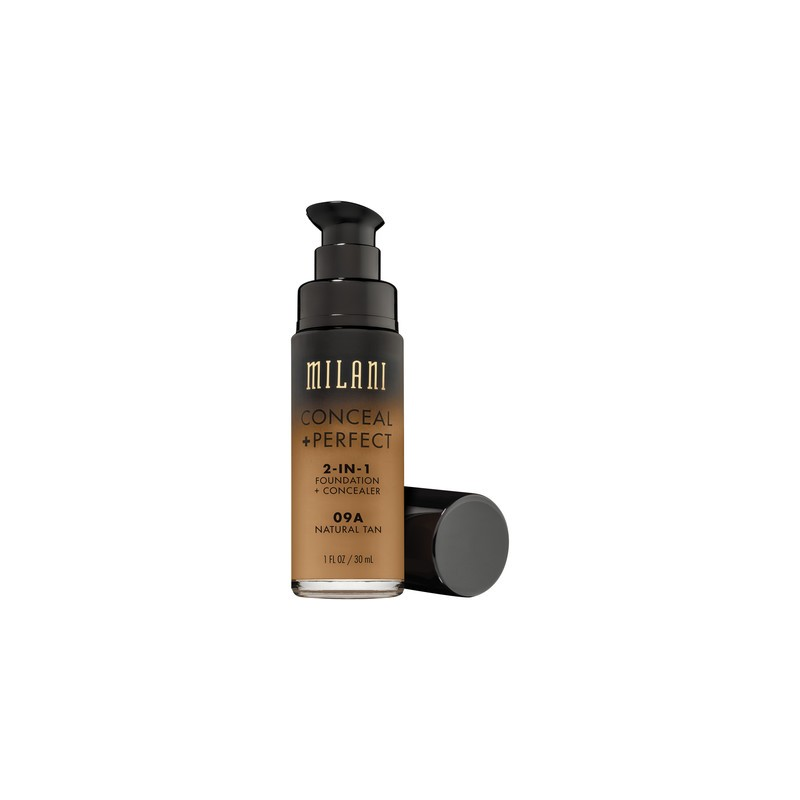 Milani Conceal + Perfect 2in1 Foundation + Concealer 09A Natural Tan