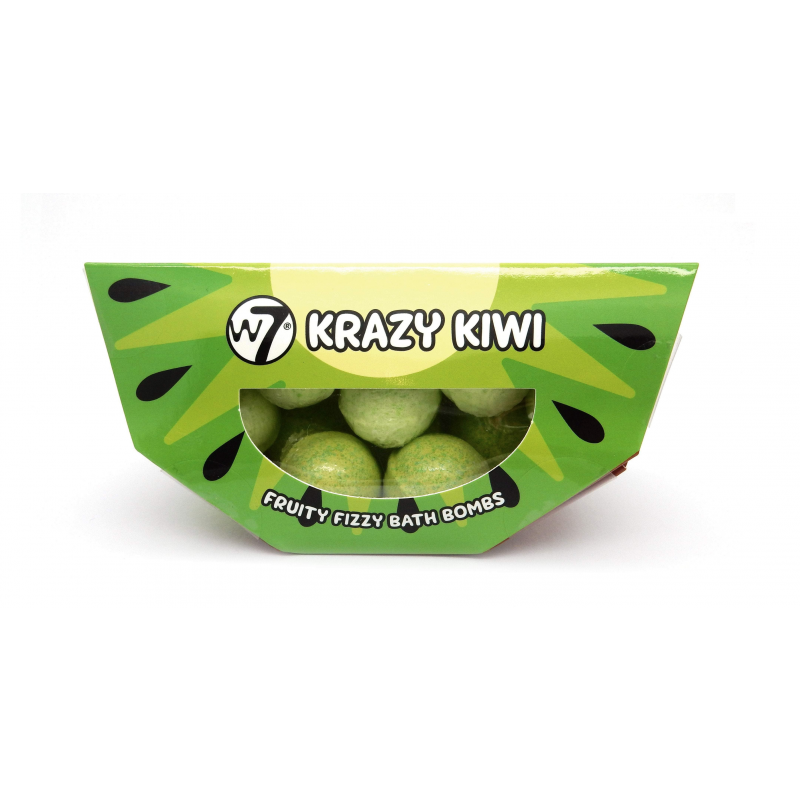 W7 Fruity Frizzy Bath Bombs Krazy Kiwi