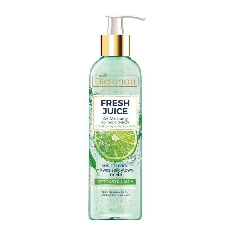 Bielenda Fresh Juice Detoxifying Micellar Gel Lime