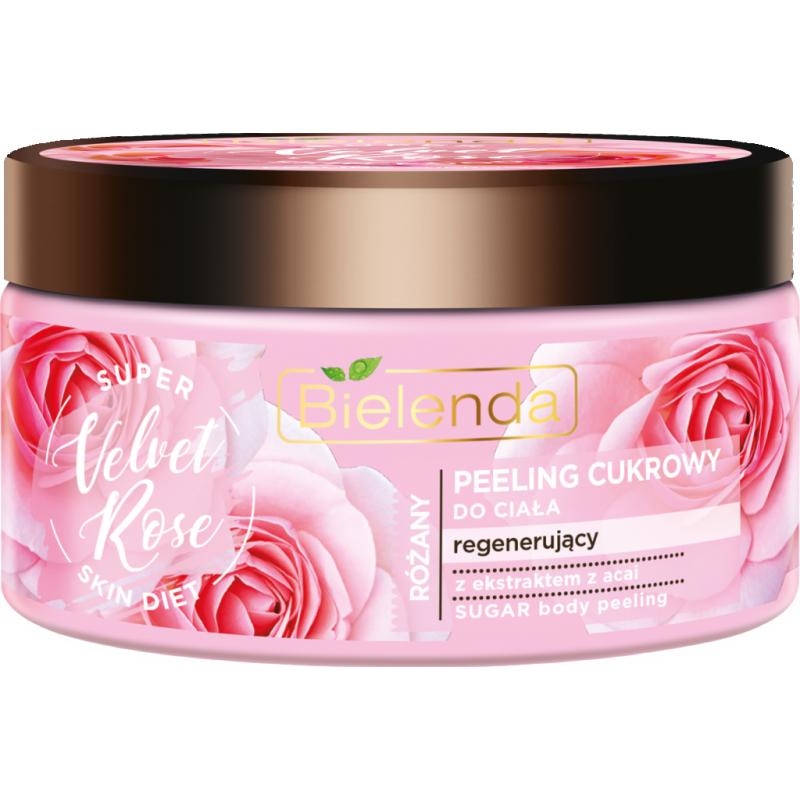 Bielenda Super Skin Diet Velvet Rose Regenerating Body Scrub