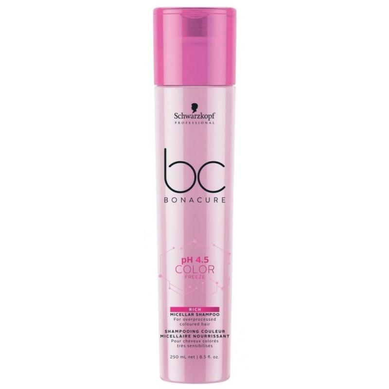 Schwarzkopf Bonacure Ph 4.5 Color Freeze Rich Micellar Shampoo