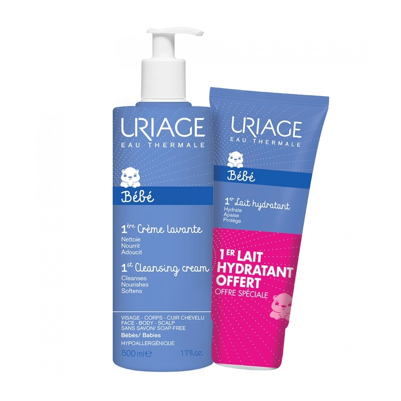 Uriage Baby 1st Cleansing Cream & Moisturizing Milk
