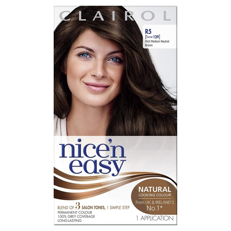 Clairol Nice 'n' Easy R5 Rich Medium Neutral Brown