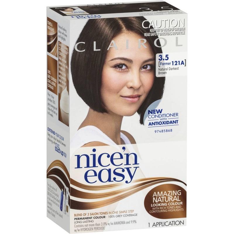 Clairol Nice 'n' Easy 3.5 Natural Darkest Brown