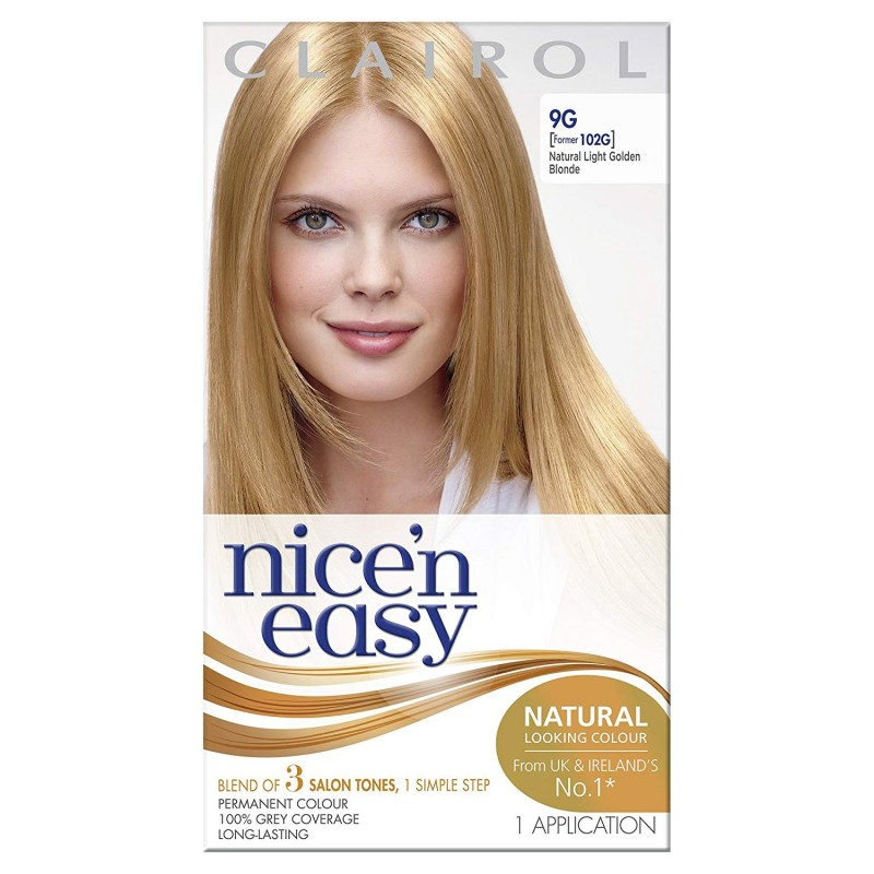 Clairol Nice 'n' Easy 9G Natural Light Golden Blonde