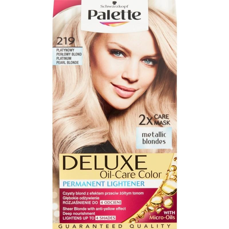 Schwarzkopf Palette Deluxe 219 Platinum Pearl Blonde