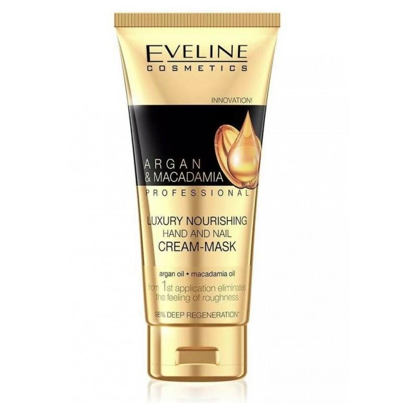 Eveline Argan & Macadamia Luxury Nourishing Hand Cream-Mask