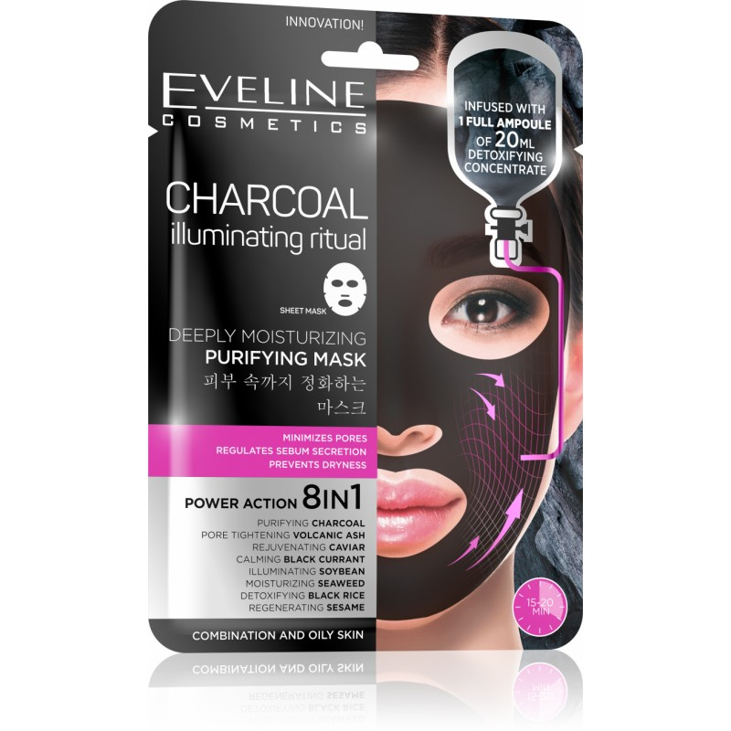 Eveline Charcoal Moisturizing Purifying Mask