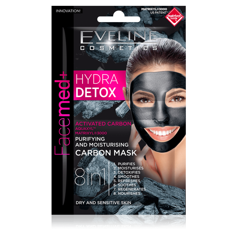 Eveline Facemed+ Hydra Detox Carbon Mask Dry & Sensitive Skin