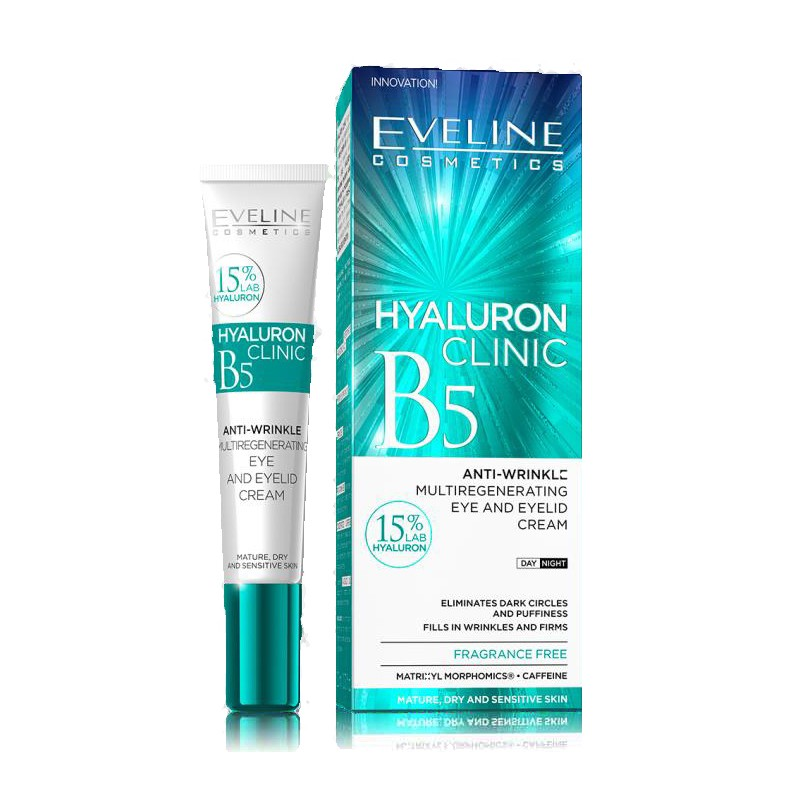 Eveline Hyaluron Clinic Anti-Wrinkle Eye & Eyelid Cream