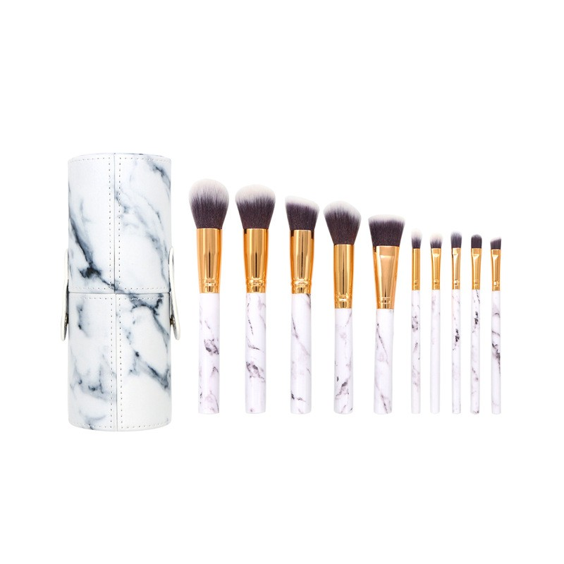 Basics Makeup Brush Set White Marble