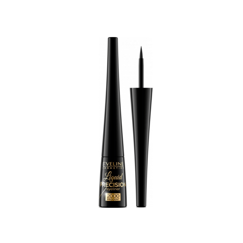 Eveline Liquid Precision 2000 Eyeliner Matt Black
