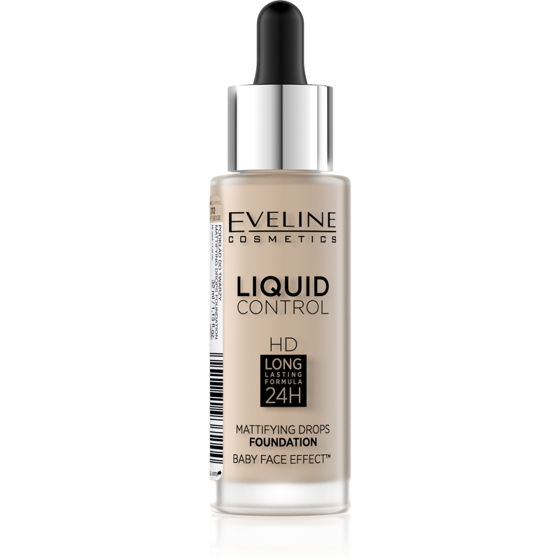 Eveline Liquid Control Foundation 010 Light Beige