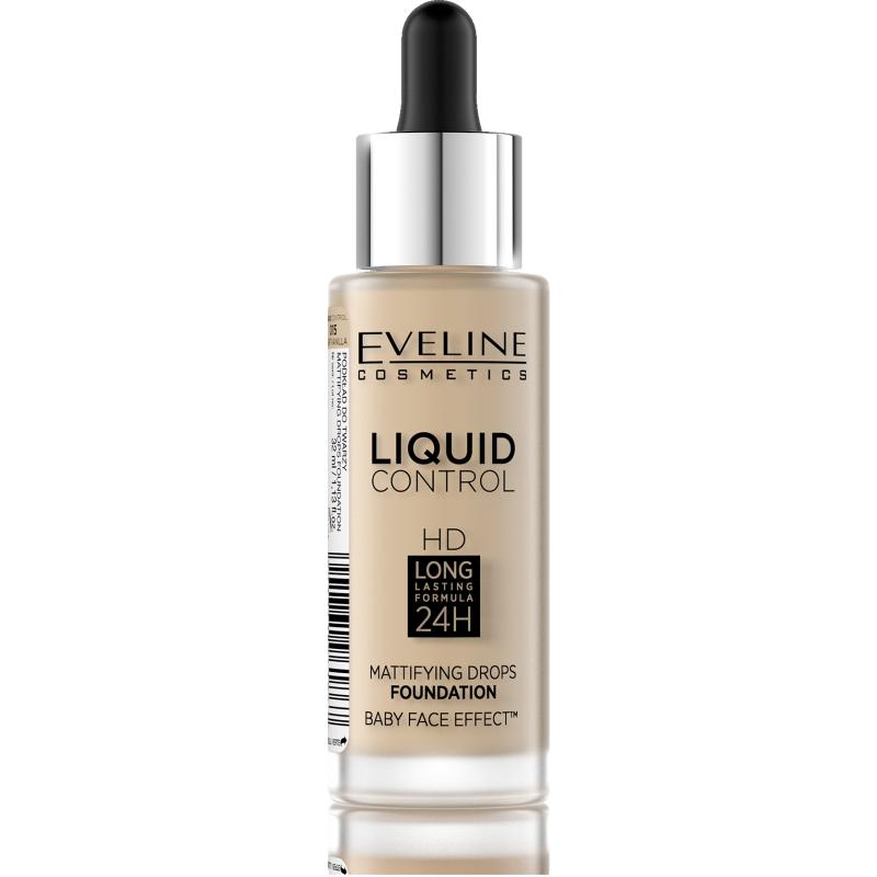 Eveline Liquid Control Foundation 015 Vanilla Beige