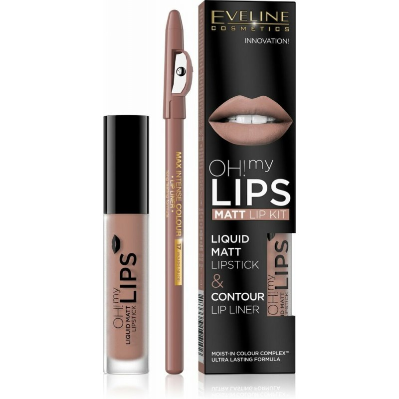 Eveline Oh My Lips Liquid Matt Lip Kit 01 Neutral Nude