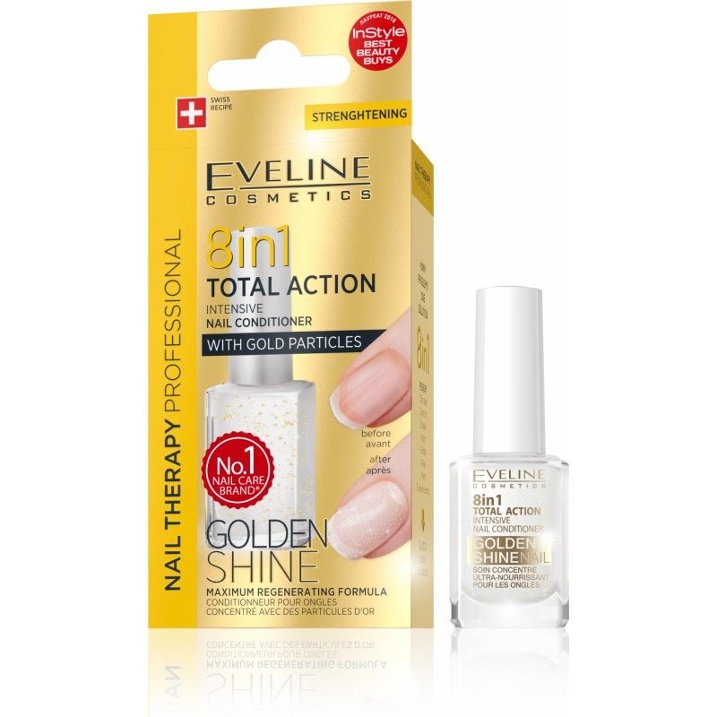 Eveline Nail Therapy 8in1 Total Action Conditioner Golden Shine