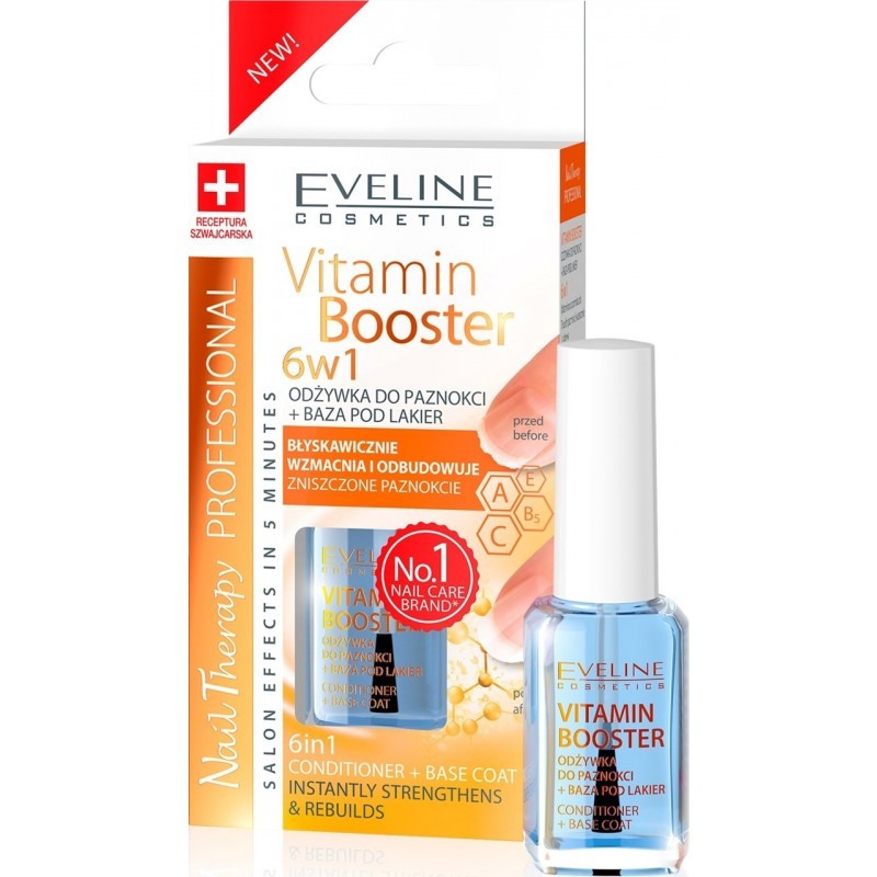 Eveline Nail Therapy 6in1 Vitamin Booster Base Coat