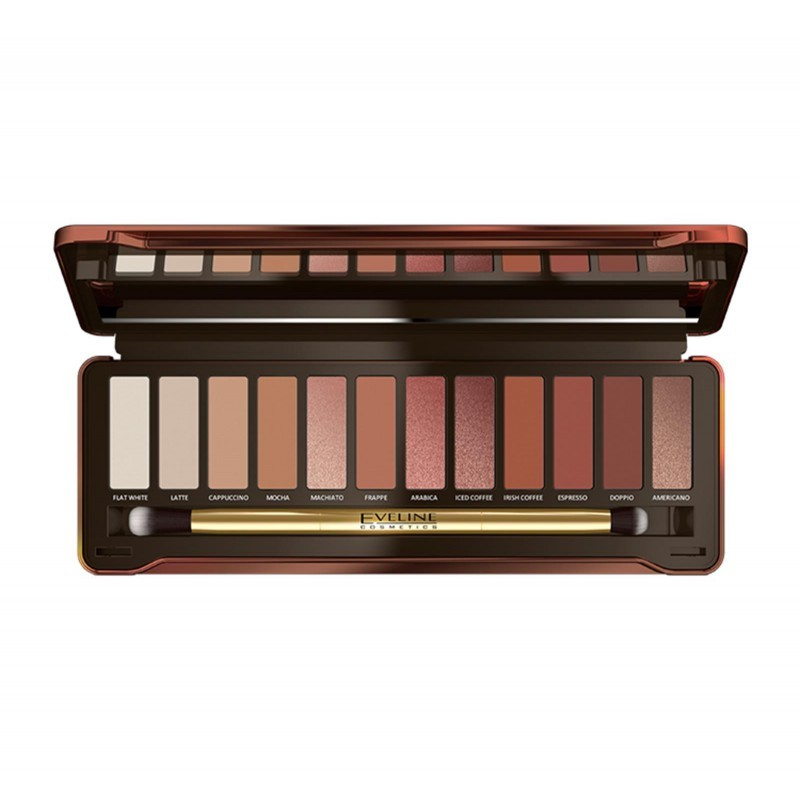 Eveline Eyeshadow Palette 12 Charming Mocha