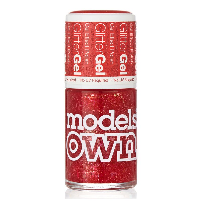 Models Own Glitter Gel Nail Polish Red Carpet