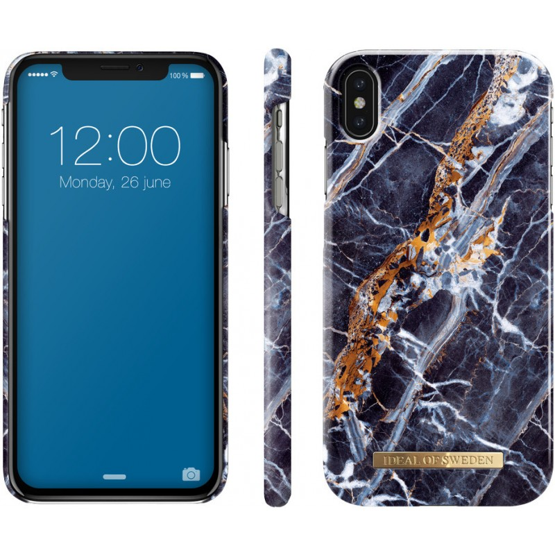iDeal Of Sweden Fashion Case iPhone XS Max Midnight Blue Marble