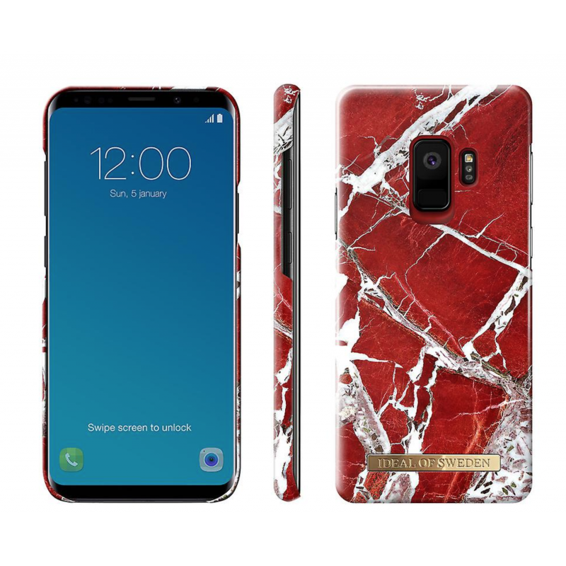 iDeal Of Sweden Fashion Case Galaxy S9 Scarlet Red Marble
