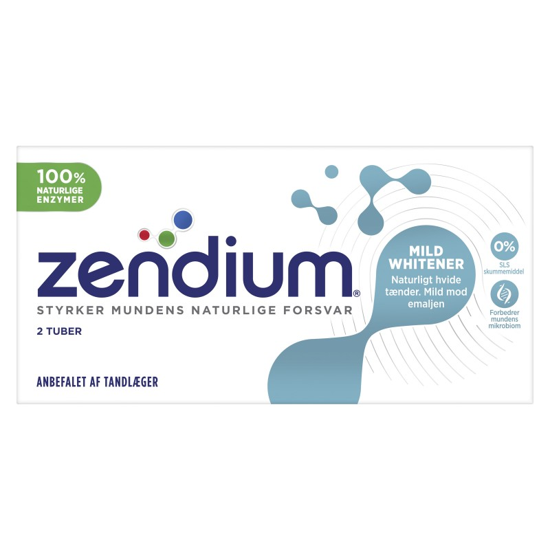 Zendium Mild Whitener Hammastahna 2 kpl