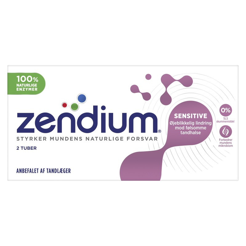 Zendium Sensitive 2-pack Tandkräm