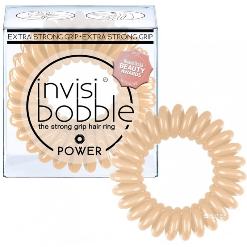 Invisibobble Hair Elastics Extra Strong Power To Be Or Nude To Be