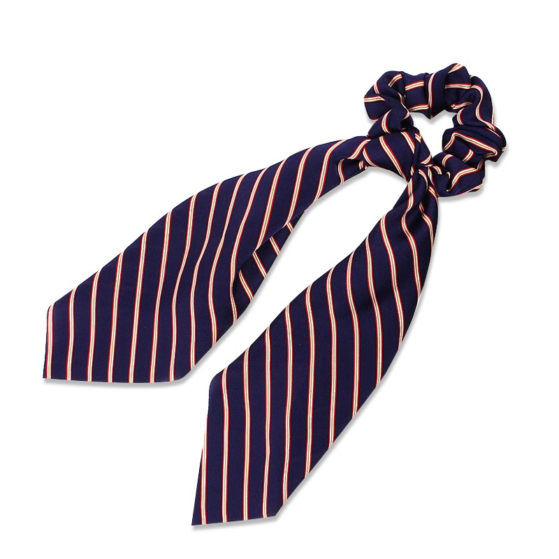 Everneed Anna Knot Scrunchie Navy Stripes