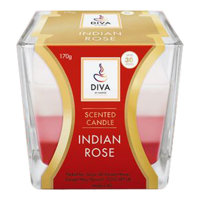 Diva Scented Candle Indian Rose