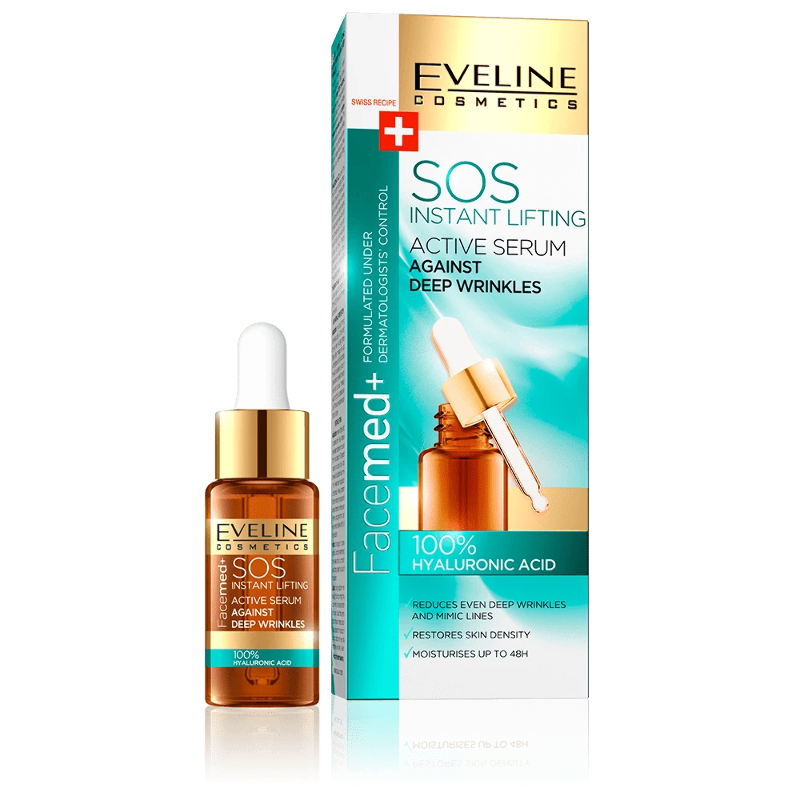 Eveline Facemed+ 100% Hyaluronic Acid Active Serum Instant Lifting